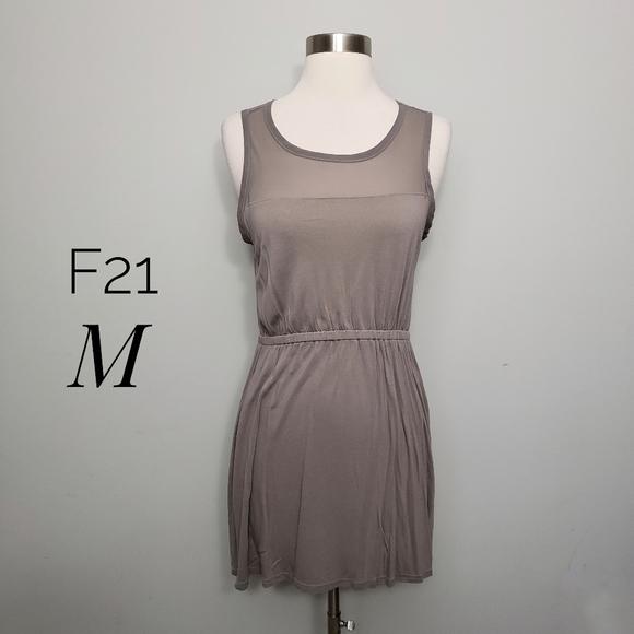 FOREVER 21 sheer yoke tunic top mini dress